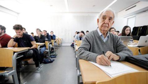 Miguel Castello in a classroom
